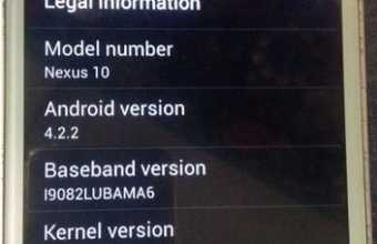 Samsung Google Nexus 10 MT6572 Rom firmware (flash file) Download