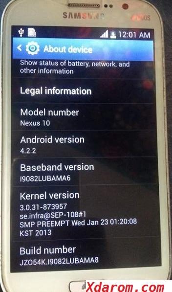 Samsung Google Nexus 10 MT6572 Firmware (Flash File) Download