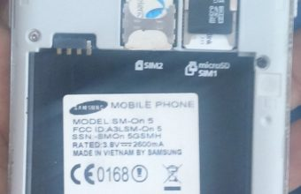 Samsung On5 SM-G5500H MT6572 5.1.1 firmware flash file