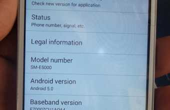 Samsung E5 SM-E5000 MT6572 5.0 firmware flash file Download