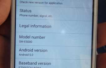 Samsung E5 SM-E5000 MT6572 5.0 firmware flash file Download