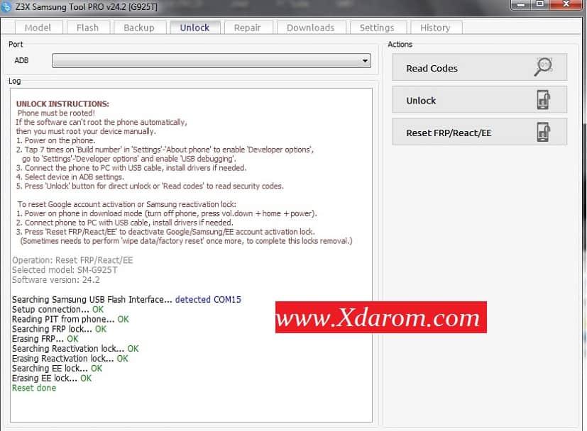 Samsung G925T Frp Lock Done | XDAROM COM