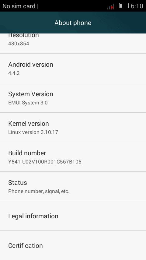 Huawei Y541-U02 Firmware