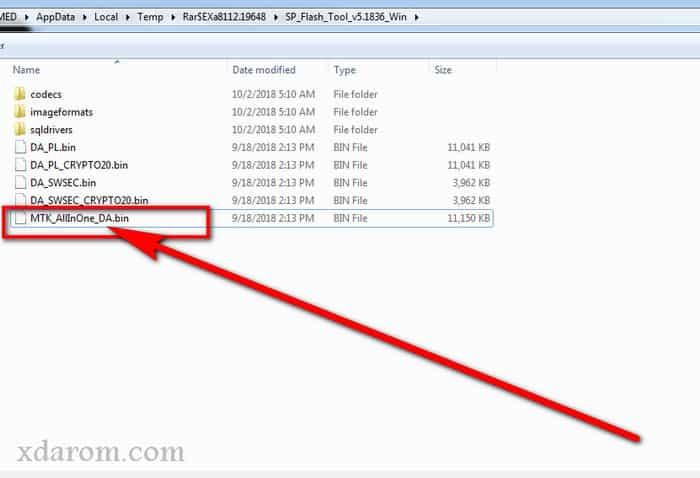 Load Da File In SP Flash Tool