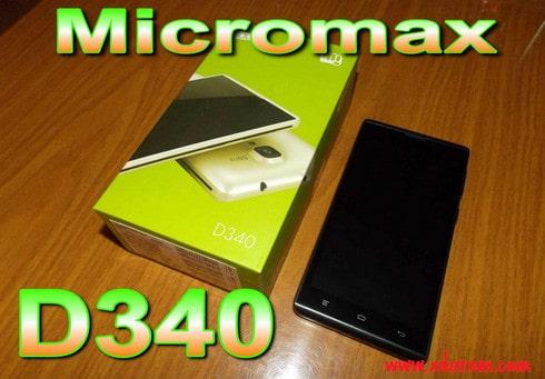 Micromax D340 Flash File