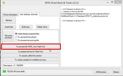 mtk droid tools not detecting phone
