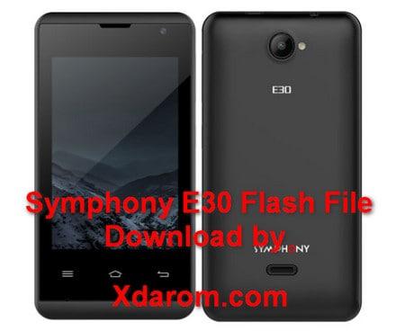 Symphony E30 Flash File