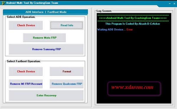 Android Multi FRP Unlock Tool