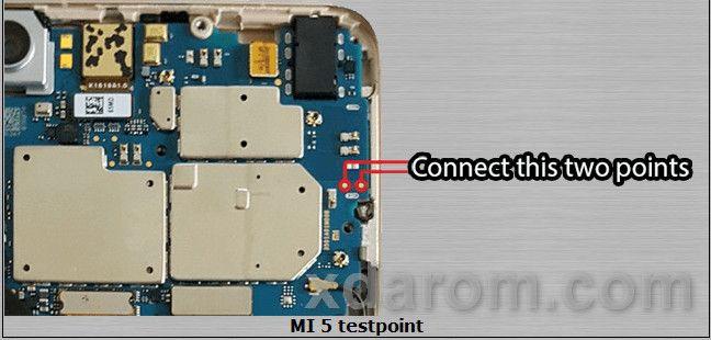 Xiaomi MI 5S Test Point