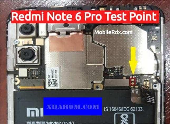 Xiaomi Redmi Note 6 Pro Test Point