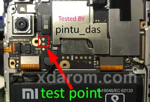 Xiaomi Redmi Y2 Test Point