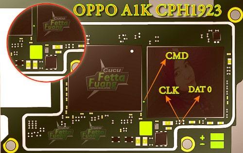 OPPO A1K CPH1923 ISP Pinout