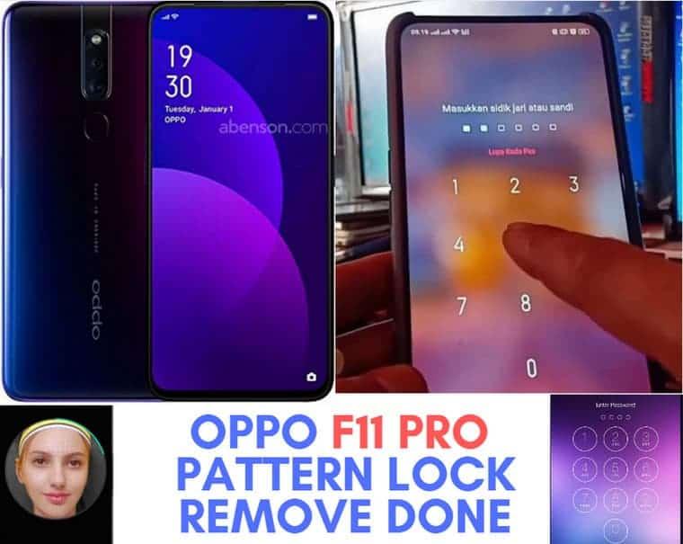OPPO F11 Pro Pattern Lock Remove