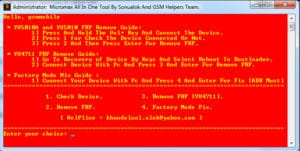 Micromax FRP Unlock Tool
