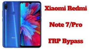 Xiaomi Redmi Note 7 FRP Bypass