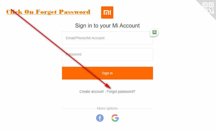 Click on Forget Password