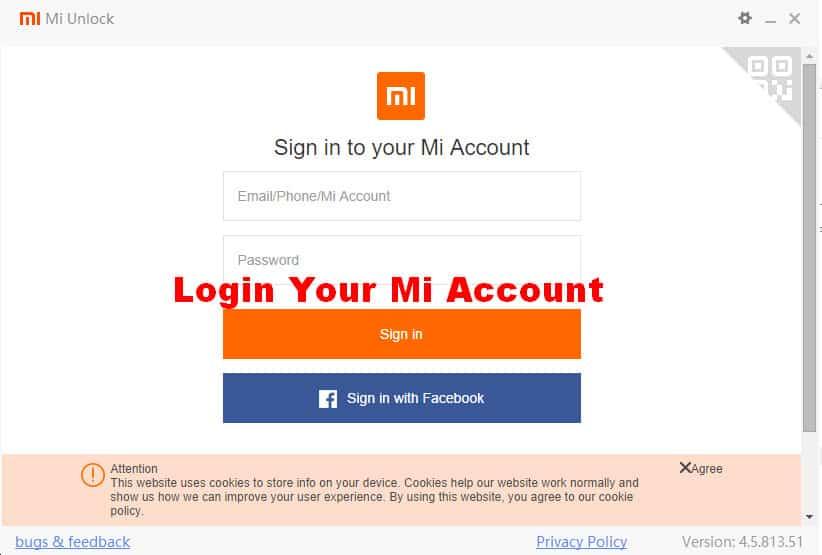 Mi Account Bootloader Unlock