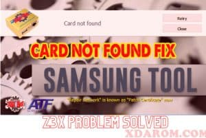 Samsung Tool Card Not Found
