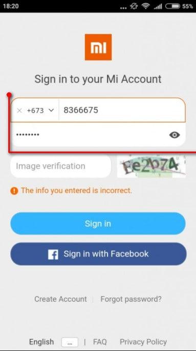 login to the Mi Unlock Tool with the same Mi account