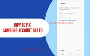 Samsung Account Processing Failed