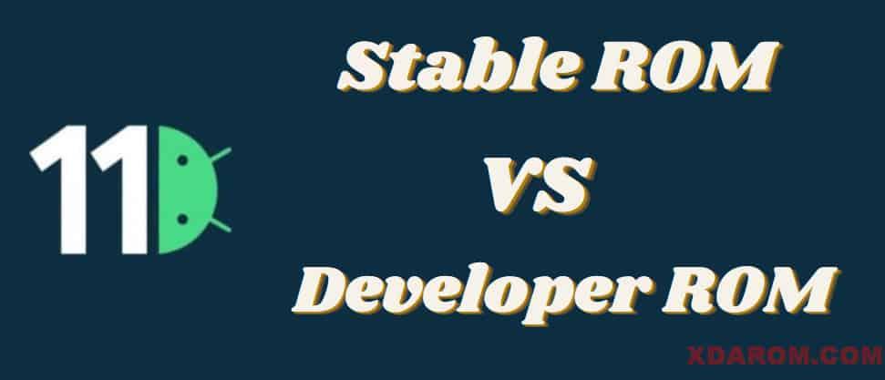 Stable ROM VS Developer ROM